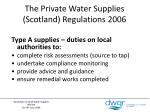 the private water supplies scotland regulations 2006