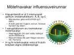 m tefnavakar influensuveirunnar