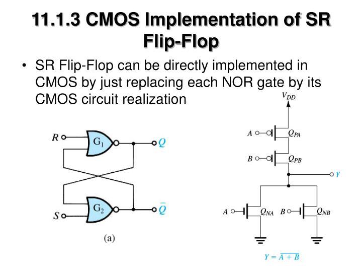 11.1.3 CMOS Implementation of SR Flip-Flop