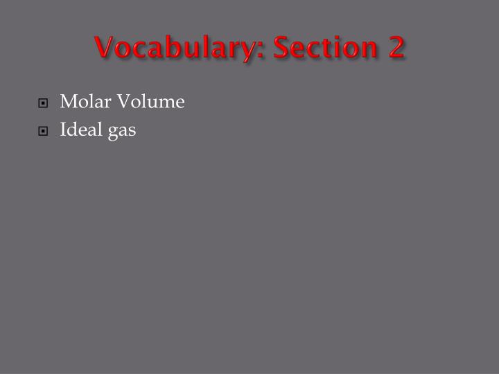 Vocabulary: Section 2