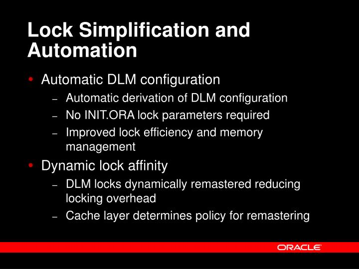 Lock Simplification and Automation