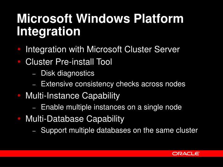 Microsoft Windows Platform Integration