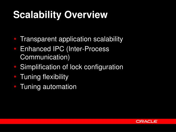 Scalability Overview