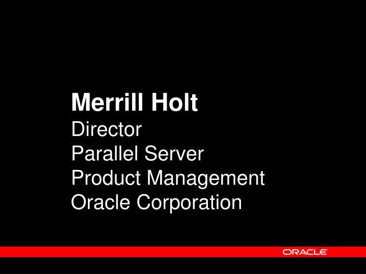 Merrill Holt