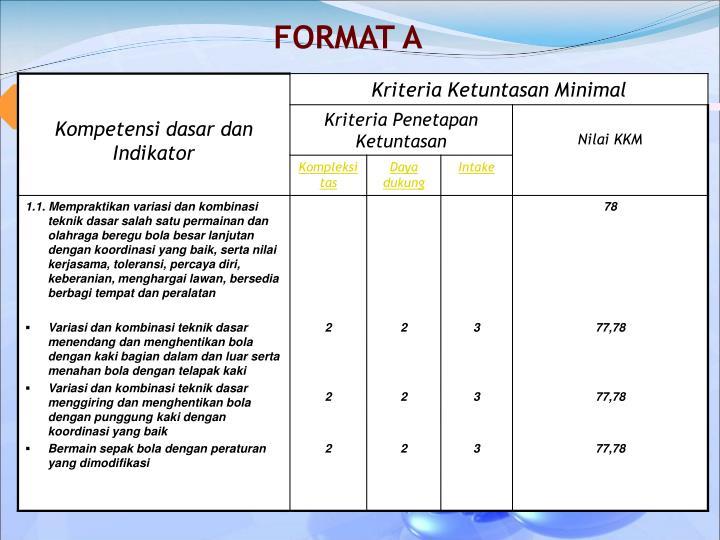 FORMAT A