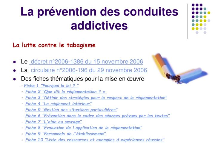 La prévention des conduites addictives