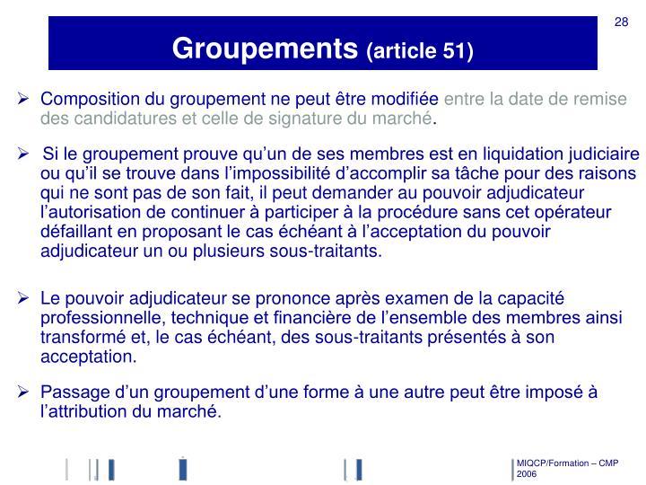 Groupements