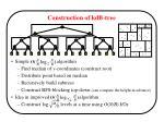 construction of kdb tree