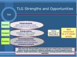 tlg strengths and opportunities