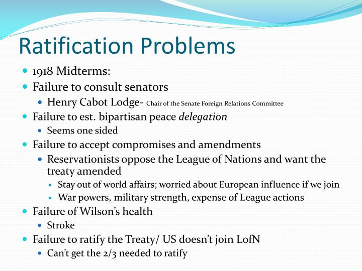 Ratification Problems