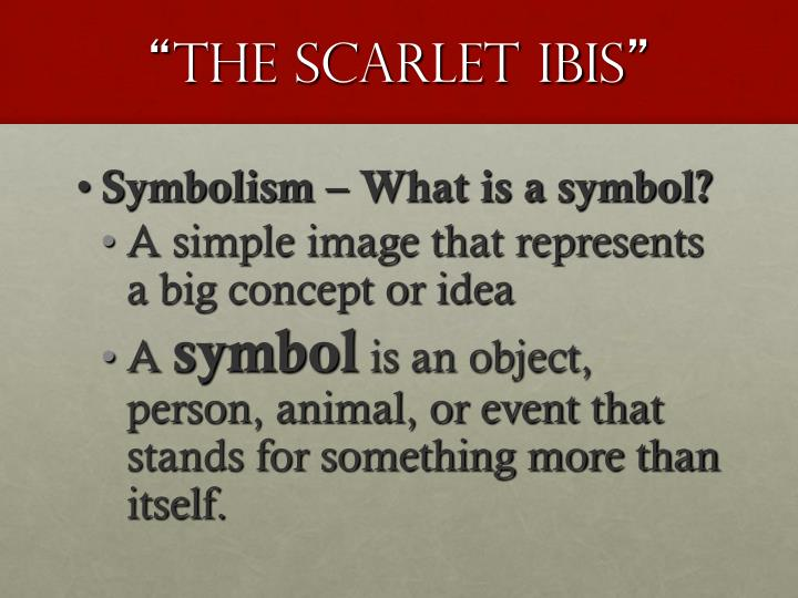 symbolism in the scarlet ibis essay Start studying imagery and symbolism in the scarlet ibis learn vocabulary, terms, and more with flashcards, games, and other study tools.
