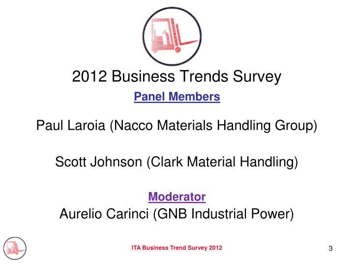 2012 business trends survey