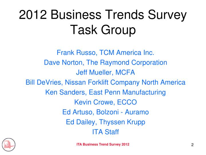 2012 business trends survey task group