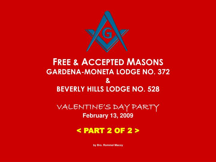 F ree a ccepted m asons gardena moneta lodge no 372 beverly hills lodge no 528