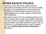 rynek akcji w polsce