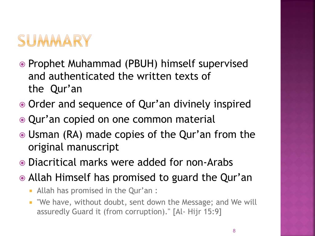 PPT - Compilation of Quran PowerPoint Presentation - ID:6136754