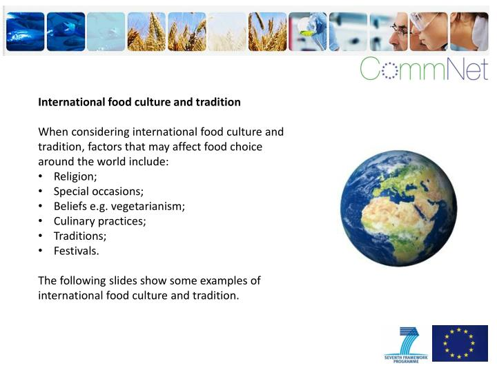 International food culture and tradition