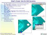 step13 create hole on cad geometry