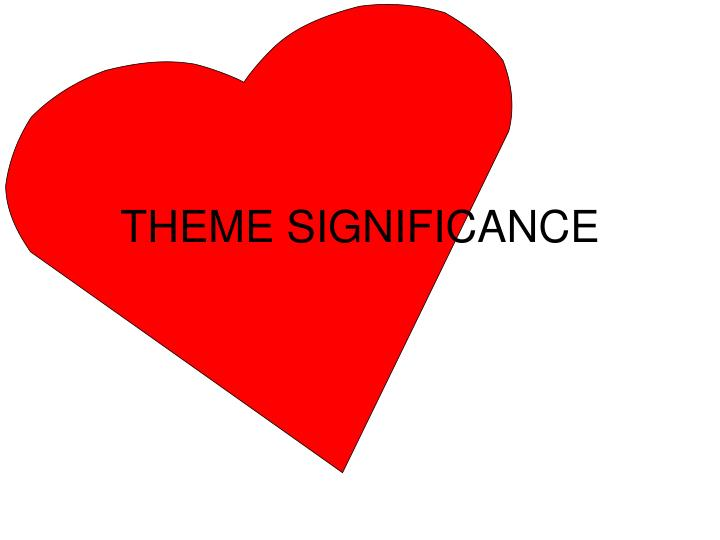 Theme significance