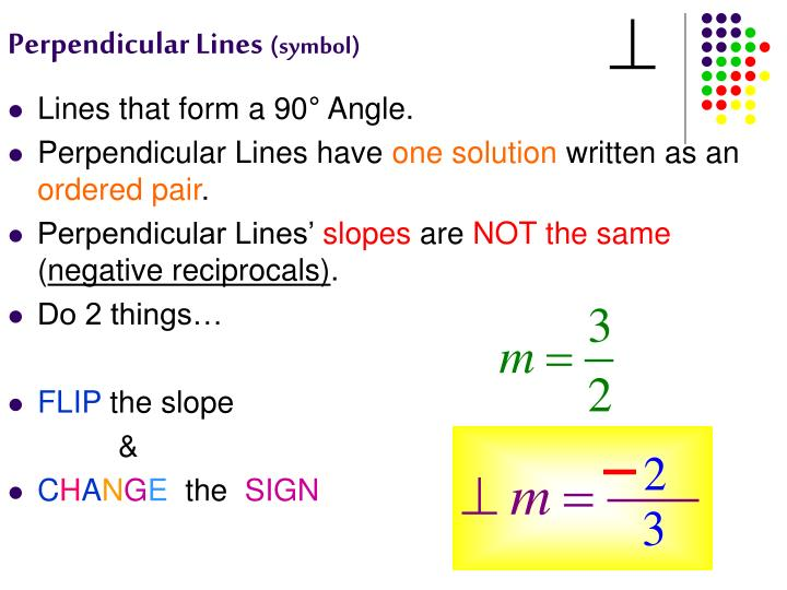 Ppt Writing Parallel And Perpendicular Lines Powerpoint