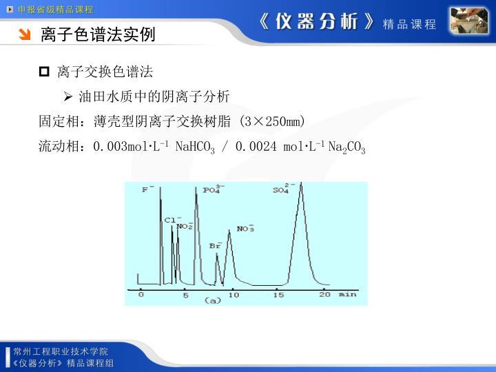 离子色谱法实例