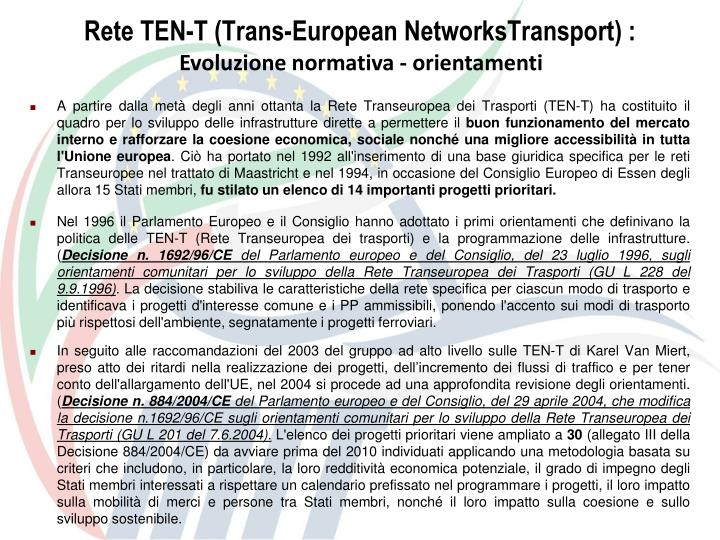 Rete ten t trans european networkstransport