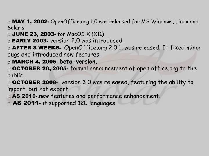 MAY 1, 2002-