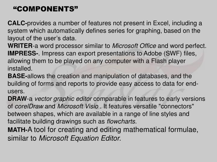 """""""COMPONENTS"""""""