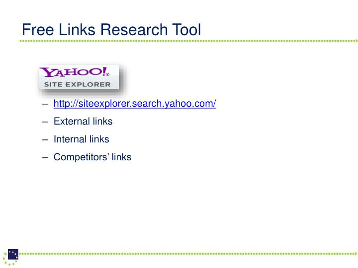 Free Links Research Tool