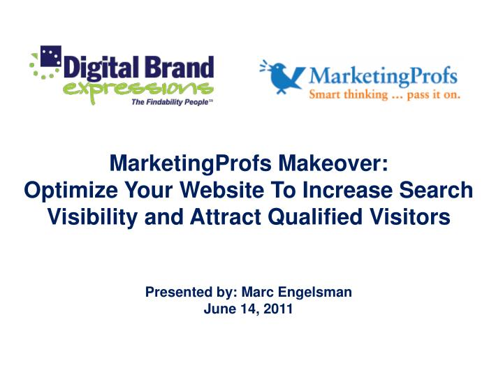 MarketingProfs Makeover: