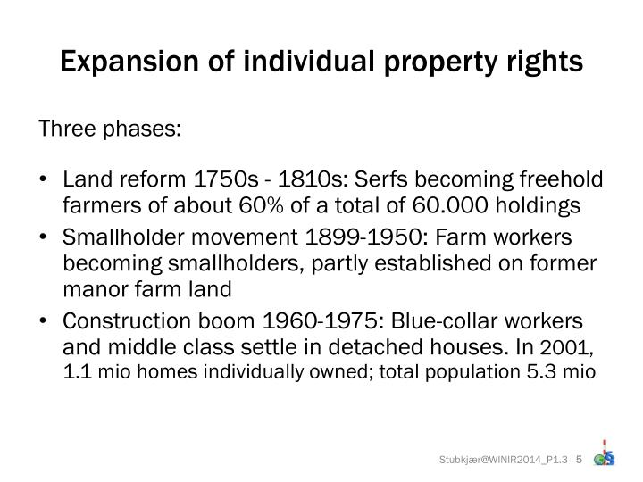 Expansion of individual property rights