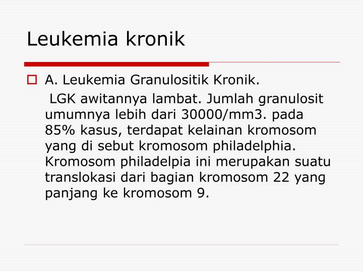 Leukemia kronik
