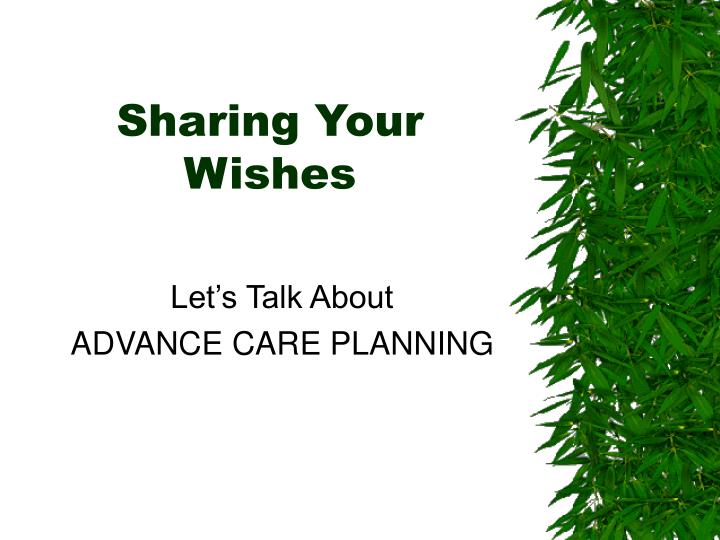let s talk about advance care planning n.
