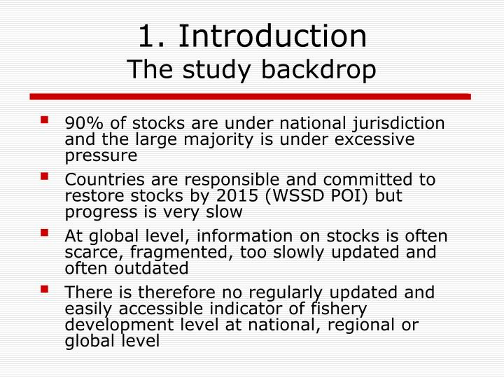 1 introduction the study backdrop