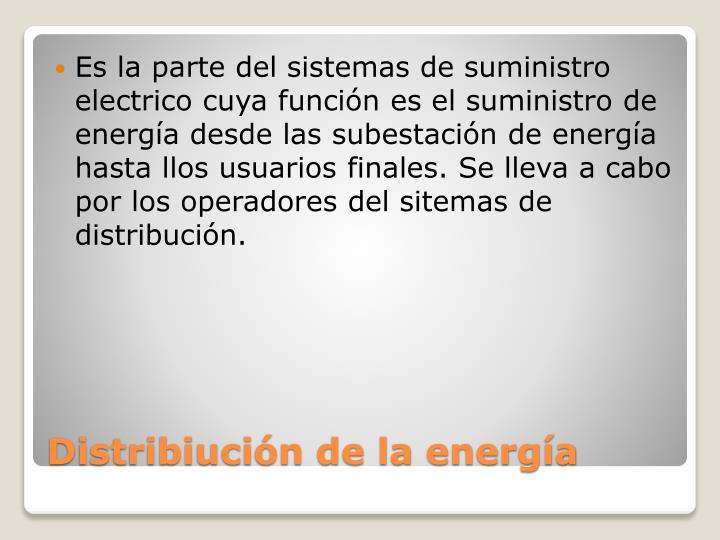 Distribiuci n de la energ a