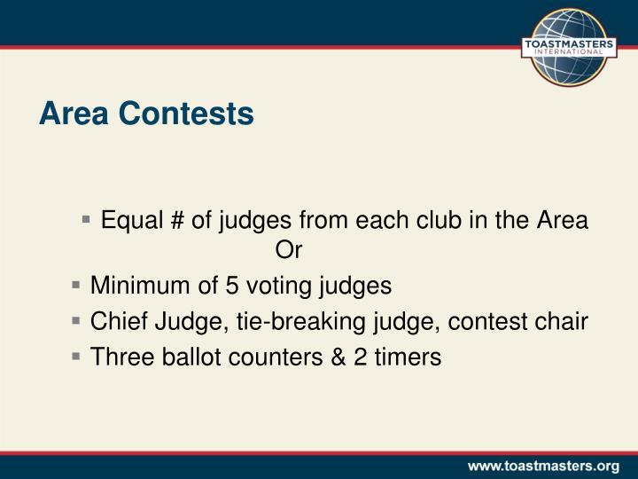 Area Contests