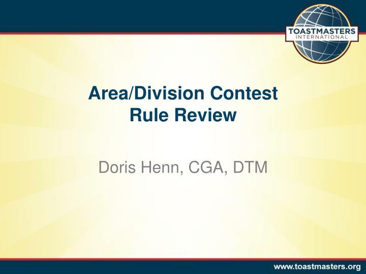 Area/Division Contest