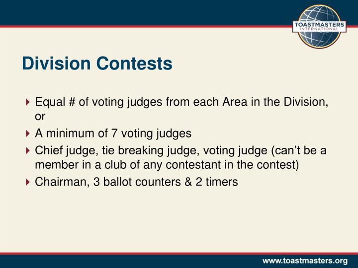 Division Contests