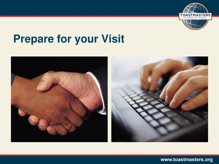 Prepare for your visit