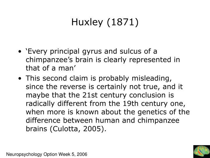 Huxley (1871)
