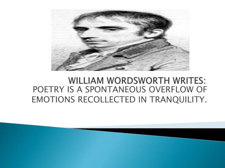 william wordsworth writes n.