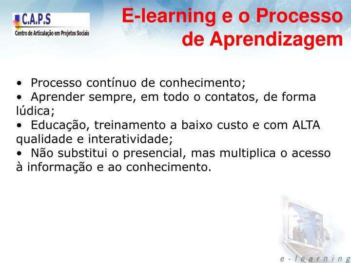 E-learning e o Processo de Aprendizagem