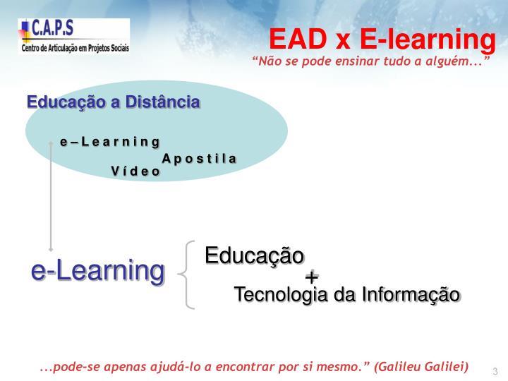 EAD x E-learning