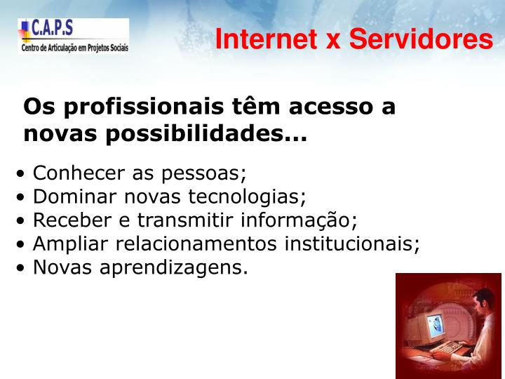 Internet x Servidores