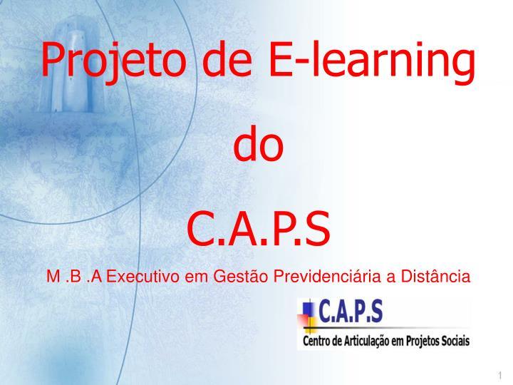Projeto de E-learning