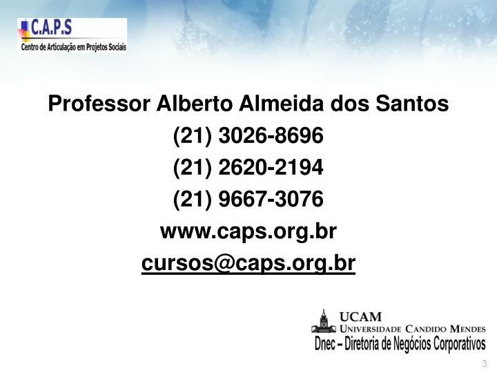 Professor Alberto Almeida dos Santos