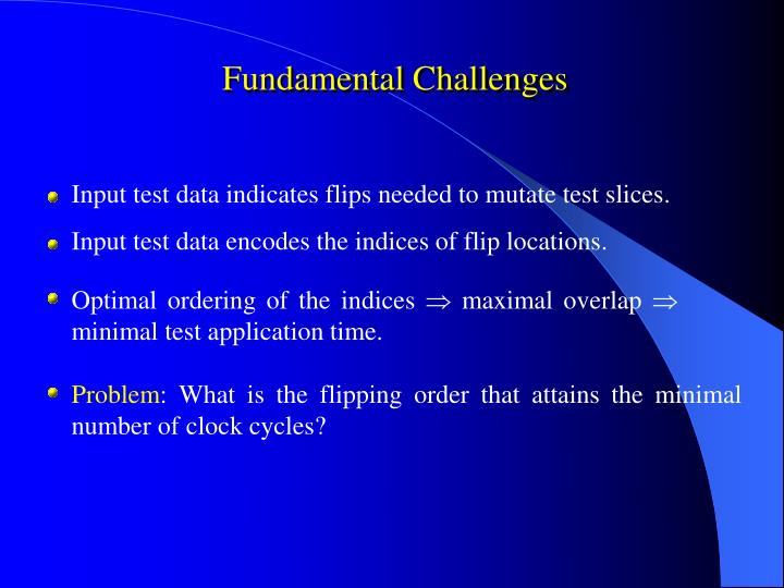 Fundamental Challenges