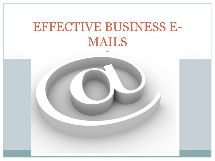 effective business e mails n.