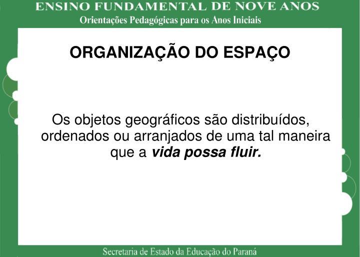 ORGANIZAÇÃO DO ESPAÇO