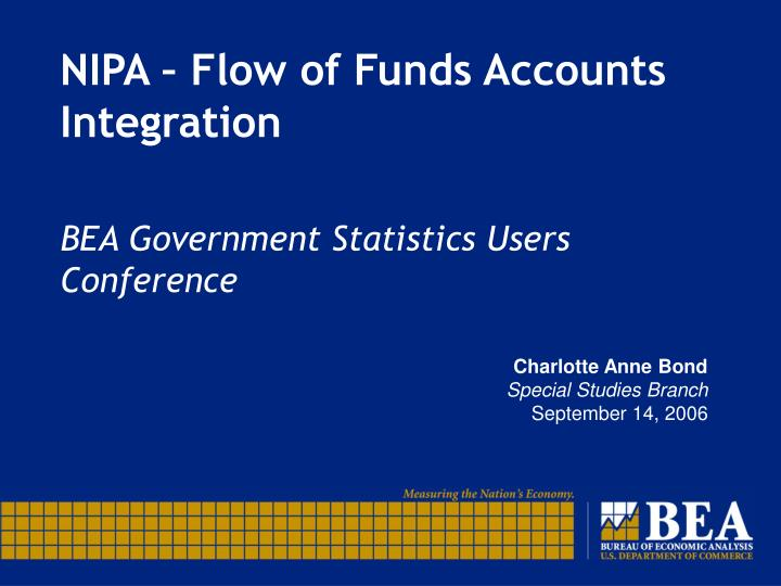 nipa flow of funds accounts integration n.